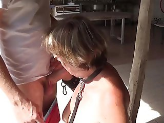 Cock Slave Suzisoumise at work