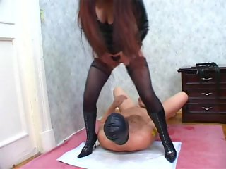Two mistress dominate guy 295