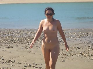 Wife gets erect nipples on Nude Beach