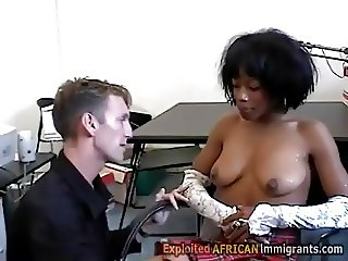 Ebony schoolgirl seduced by white perv