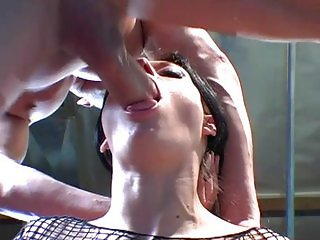 Lovely black haired cock sucking bitch