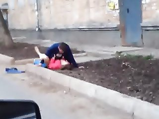 Russian amateurs fucking outdoor