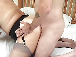 FAT ASS British mature and 2 fucks who love to fuck