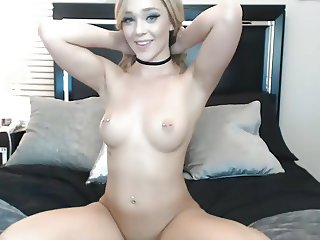 Glamorous Blonde Showing Beautiful Naked Body