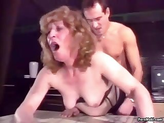 Granny gets screwed hard in the ass