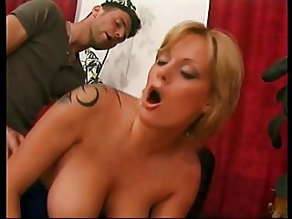Big tits blond whore banging cock
