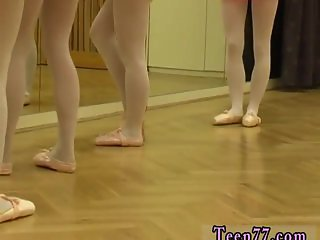 Blonde and brunette gangbang Hot ballet
