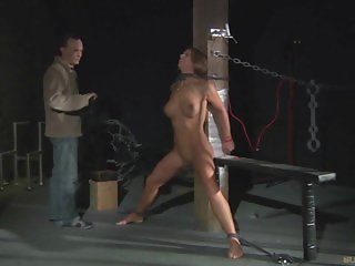 Bondage Painful chain reaction for slave big tits