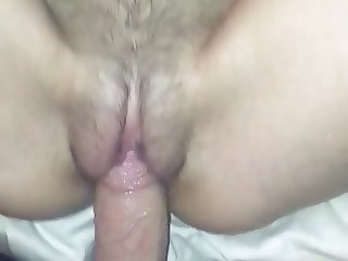 GF FUCKS THICK COCK AND TAKES CUM
