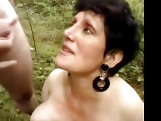 Two grannies seduce young guys