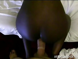 Petite African babe ravaged doggystyle