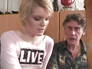 russian granddad getting some young blond pussy
