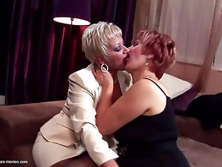 Kinky moms and grannies fuck and piss with boy