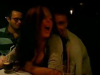 Public fucking cute girl in bar