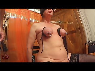 Pierced nipples and bouncing weights