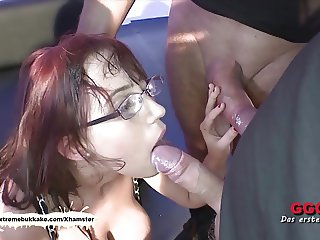 Nerdy Fiona with big natural tits gets creamed - Extreme Buk