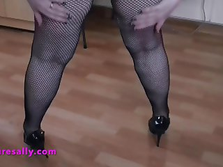 Hot Mature in fishnets and heels