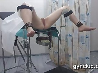 orgasm on the gynecological chair