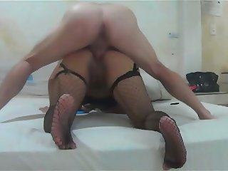 Latina Anal in Fishnets