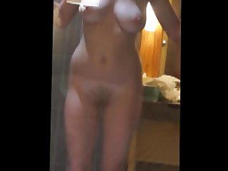 Hot Naked Babe With Big Boobs Dancing