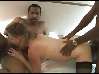 Curvy mature wife gangbanged by blacks