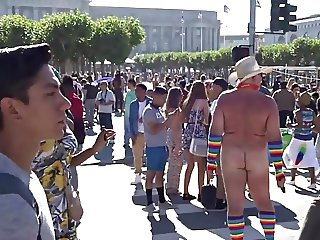 Naked at Pride Festival