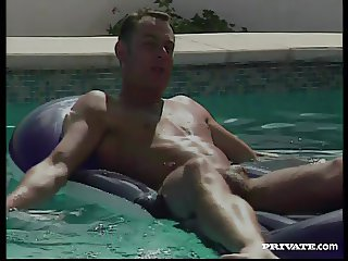Threesome by the Pool with Draguitsa