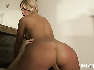 Busty Think Latina takes a pounding