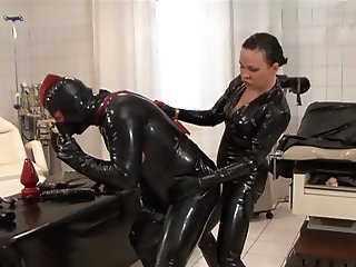 Latex and strapon male and female
