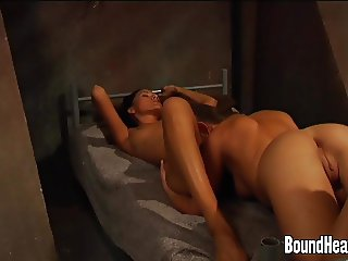Lesbian Madame Satisfied By her Slave
