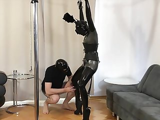 Bupshi - latex pony girl training