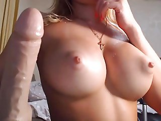 Blond round ass big boobs tits shaved cameltoe pussy