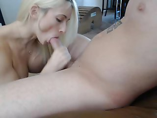 Sexy blond girl afternoon fuck with her boy