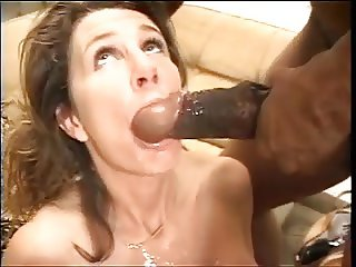 brunette swallow big black cock bbc