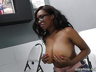 Black busty daughter suck and fuck white boy