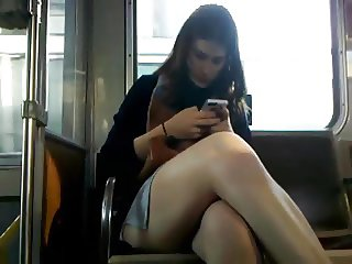 Bus Cam 1: Short Skirt Honey
