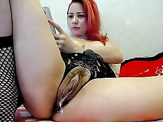Cam milf lady gushing pussy juice