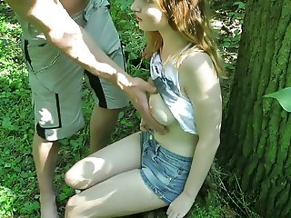 LOVELY german teen girl fucked outdoors