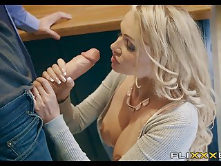 Horny MILF gets Fucked in the kitchen