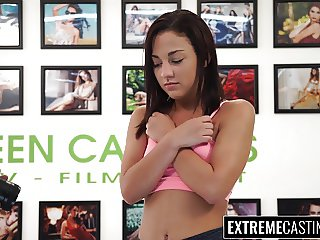 Cute teen Amara Romani railed deep and raw at casting