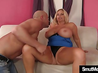 Big tittied blonde MILF fucked and cum in mouth