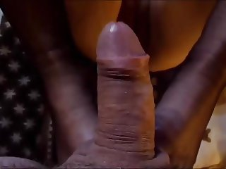 Feetjob in Nylons and Cumshoot on Tits