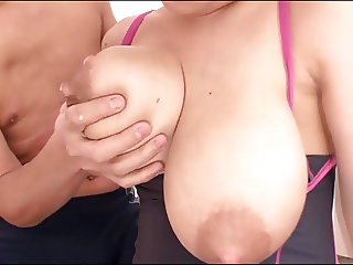 big tits and nips full with milk
