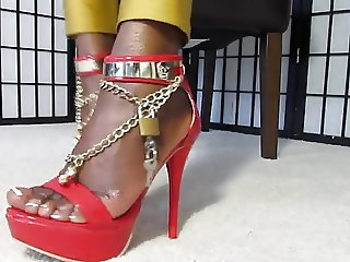 In Chastity for Ebony Feet