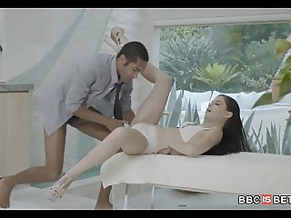 First time Black DIck for Brunette Teen