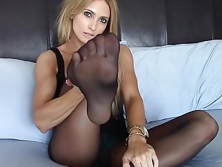Blondie nylon tease