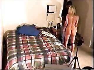 Married blonde (Tricked nude) Fucks to keep video secret.