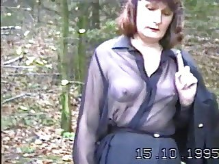 Angela. Strip in the woods 3