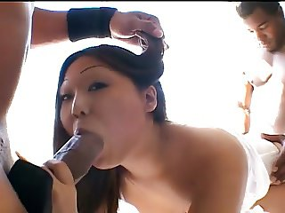 Two Guys Take Turns Fucking Cute Asian