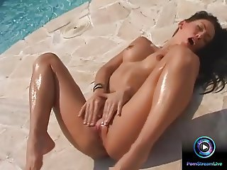 Exotic beauty Mya Diamond screaming while having orgasm
